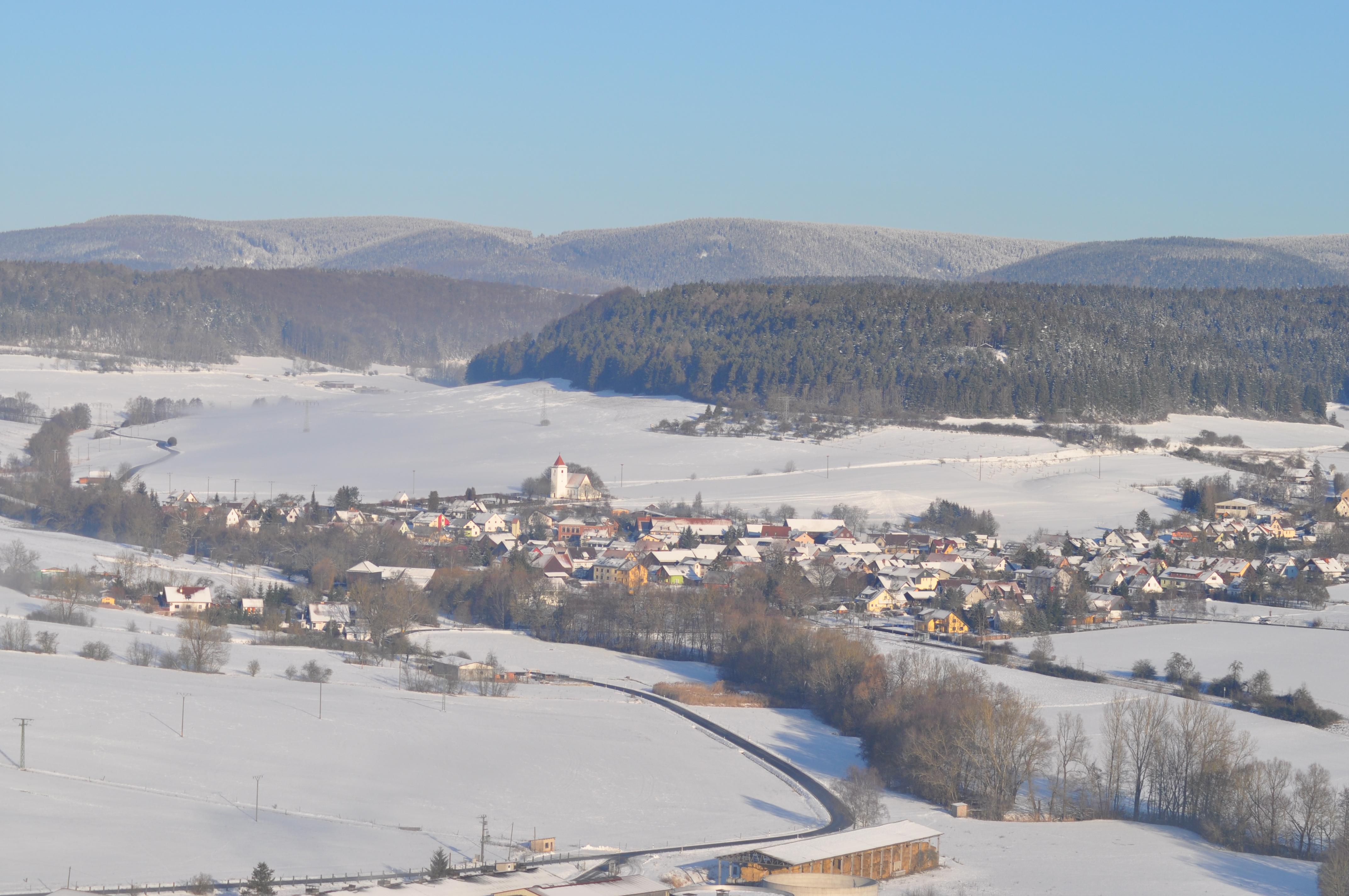 Bachfeld im Winter